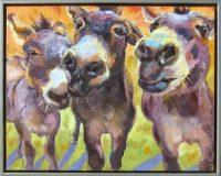 "Mostly Mischief Sarah Webber  17.75"" x 21.5"" oil on canvas $1575"
