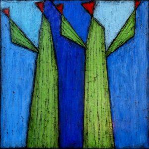 "Desert Giants by Nancy Pendleton48"" x 48""mixed media$3950"