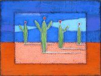 "Desert Saturation Nancy Pendleton 36"" x 48"" mixed media $3550"