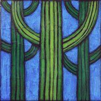 "Cactus Forest Nancy Pendleton 36"" x 36"" mixed media $3150"