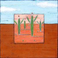 """Desert Light Nancy Pendleton 48"""" x 48"""" mixed media $3950"""