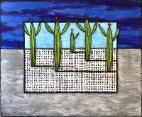 "Spring Desert Nancy Pendleton 60"" x 72"" mixed media $7250"