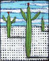 "Saguaro Standing Nancy Pendleton 24"" x 20"" mixed media $1650"