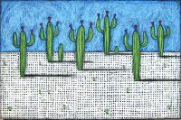 """Desert Dance Nancy Pendleton 48"""" x 72"""" mixed media $5950"""