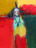 """The Raven Chief Jim Nelson  48"""" x 36"""" acrylic on canvas $7800"""