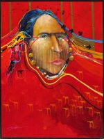 """Call Her Sister Jim Nelson 32"""" x 24"""" acrylic on panel $3475"""