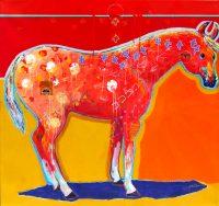 "Spirit Horse Jim Nelson 45"" x 48"" acrylic on canvas $9750"