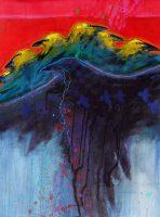 "Seven Ravens Jim Nelson 54.5"" x 40"" acrylic on canvas $9750"
