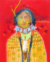 "Son of Yellow Hand Jim Nelson 20"" x 16"" acrylic on panel $1675"