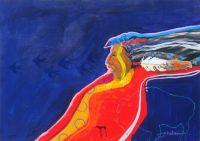 "Blue Bird Jim Nelson 18"" x 24"" acrylic on panel $1950"