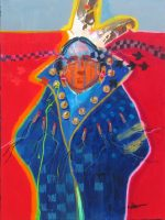 """Looking for my Children Jim Nelson 24"""" x 18"""" acrylic on panel $1950"""