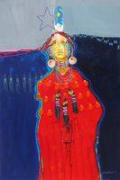 """Sparrow Jim Nelson 36"""" x 24"""" acrylic on canvas $3900"""