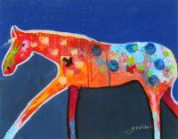 "Spirit Horse #97 Jim Nelson 14"" x 18"" acrylic on panel $1350"