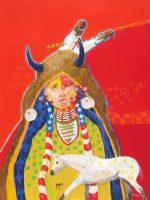 "Horse Hunter Jim Nelson 40"" x 30"" acrylic on panel $5935"