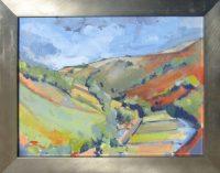 """Hills Sara Newton 14.5"""" x 18.5"""" oil on canvas $250"""