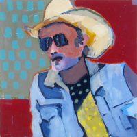 "On the Road Sara Newton 18"" x 18"" oil on canvas $725"