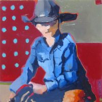 "Young Roper Sara Newton 18"" x 18"" oil on canvas $725"