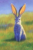 """Meadow Jack Rabbit Theresa Paden 30"""" x 20"""" acrylic on canvas"""
