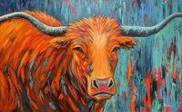 "Scarlet Theresa Paden 30"" x 48"" acrylic on canvas $3600"