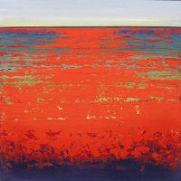"""Ruby Fields Stephanie Paige 36"""" x 36"""" marble plaster on wood panel $5260"""