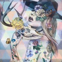 """Rococo Andrea Peterson 40"""" x 40"""" oil on canvas $2950"""
