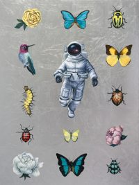 """Specimen Andrea Peterson 24"""" x 18"""" oil and silver leaf on panel $975"""