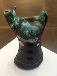"Cow Alan Potter  3"" x 5"" x 8"" ceramic $90"
