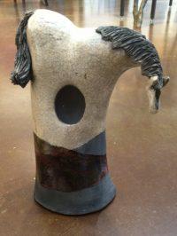 "Horse - brown - medium Alan Potter 11"" x 5"" x 5"" ceramic $150"