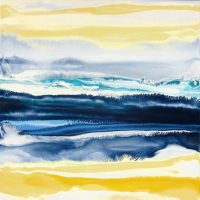 "Surfest II Christina Ramirez 20"" x 20"" acrylic on canvas $525"
