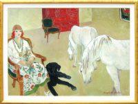 "Day Dream Jacqueline Rochester  42.25""  x 54.25"" oil on canvas $11,500"