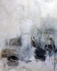 "Lightness of Being Julie Schumer 54"" x 45"" mixed media on canvas $5100"
