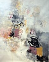 """Under the Full Moon Julie Schumer 58"""" x 46"""" mixed media on canvas $6200"""