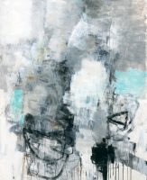 """Winter's Soul Julie Schumer 66"""" x 54.5"""" mixed media on canvas $7900"""