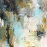 "Luminious Morning Debora Stewart 55"" x 55"" acrylic on canvas $5200"