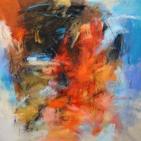 "Enduring Debora Stewart 55"" x 55"" acrylic on canvas $5200"