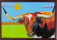 """The Last Bovine Stephano  27"""" x 36"""" acrylic on canvas $1050"""