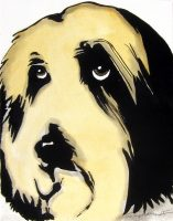 """Diego Stephano 14"""" x 11"""" acrylic on canvas $250"""