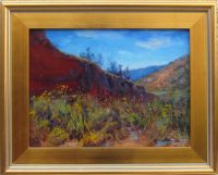 """Red Rock James Swanson 17"""" x 21"""" oil on linen $1250"""