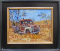 "Rust Never Sleeps James Swanson 18"" x 22"" oil on linen $1250"