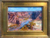 "Canyon Light James Swanson 18.5"" x 22.5"" oil on panel $1000"