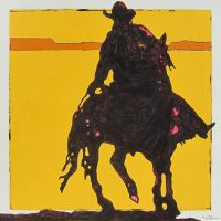 "High Rider Michael Swearngin 30"" x 30"" acrylic on canvas $2200"