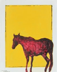 "Loan Horse Michael Swearngin 20"" x 16"" acrylic on canvas $800"