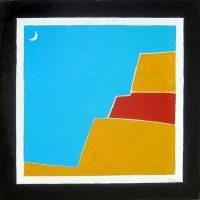 "Southwest New Moon Michael Swearngin 40"" x 40"" acrylic on canvas $4000"