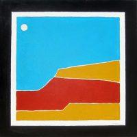 "Southwest Full Moon Michael Swearngin 40"" x 40"" acrylic on canvas $4000"