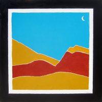 "Southwest Dying Waxing Moon Michael Swearngin 40"" x 40"" acrylic on canvas $4000"