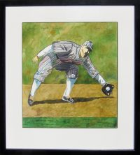 "Buck Weaver Thom Ross 20"" x 18.5"" watercolor on paper $3400"
