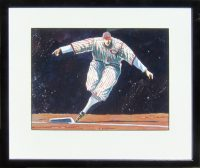 "Rounding Third Thom Ross 19"" x 16"" watercolor on paper $3200"