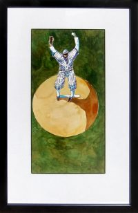 "Man in the Moon Thom Ross 20"" x 13"" watercolor on paper $2600"