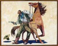 "Frank McLaury and His Horse Thom Ross 50.5"" x 62.25"" oil on canvas $11,500"