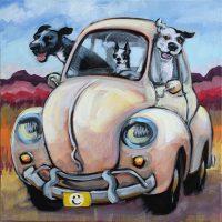 "Bug Out Connie Townsend 12"" x 12"" acrylic on canvas $450"